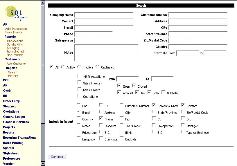SQL-Ledger ERP